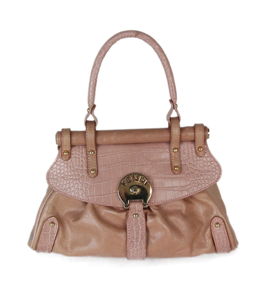 Fendi pink leather satchel 1