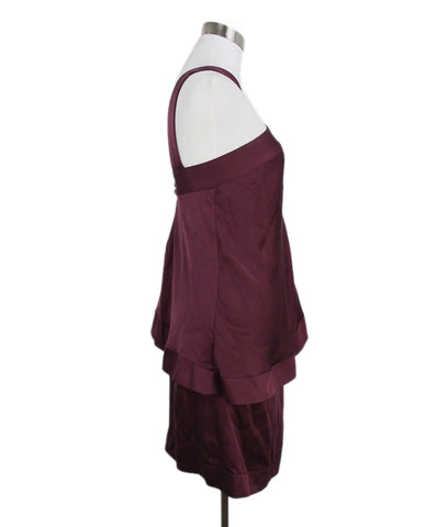 Fendi plum silk dress 1