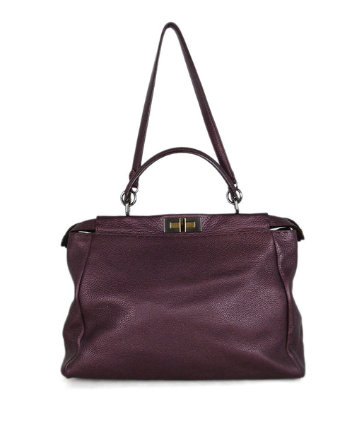 Fendi purple leather peekaboo bag 1