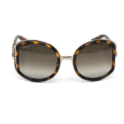 Ferragamo Brown Tortoise Shell Sunglasses
