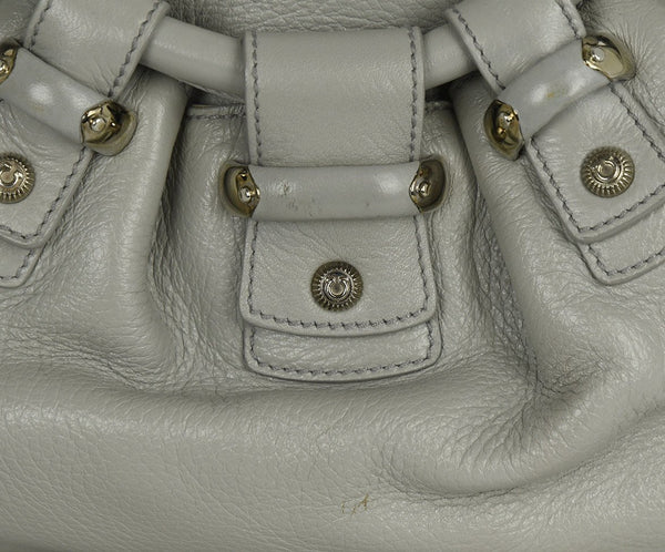 Ferragamo Grey Deerskin Leather Satchel Handbag | Ferragamo