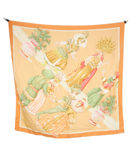 Hermes Green Cheval Surprise Print Silk Scarf