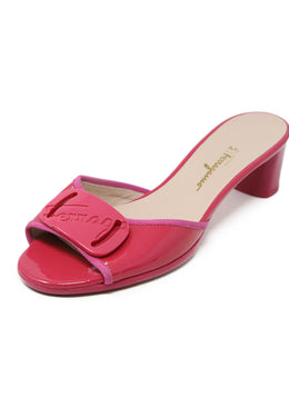 Ferragamo Pink Patent Leather Sandals 1