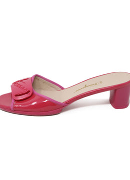 Ferragamo Pink Patent Leather Sandals 2