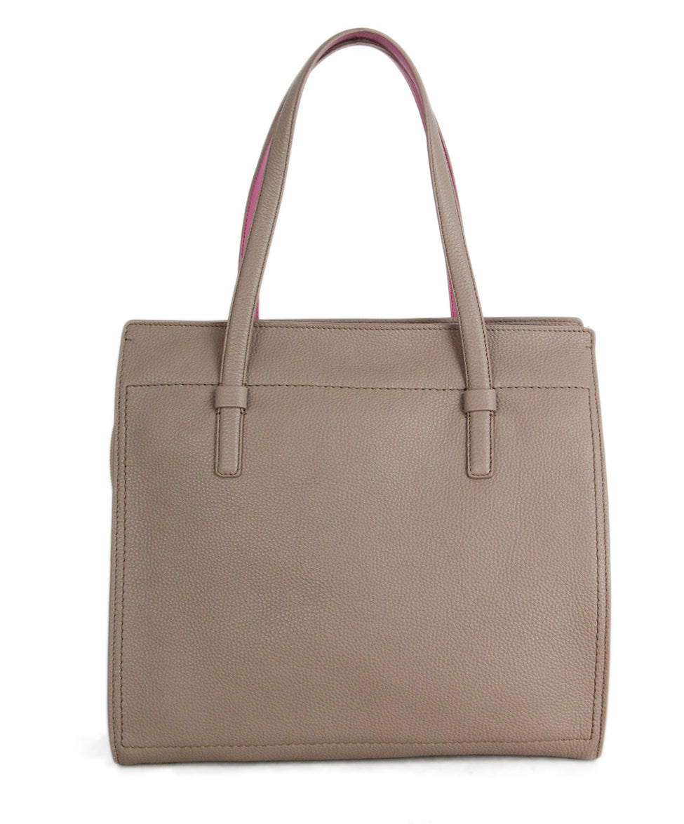 Ferragamo Taupe Pink Leather Tote 3