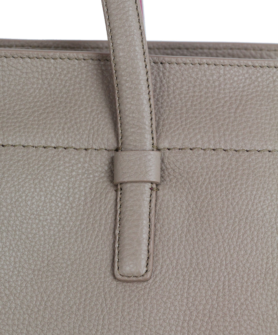 Ferragamo Taupe Pink Leather Tote 8