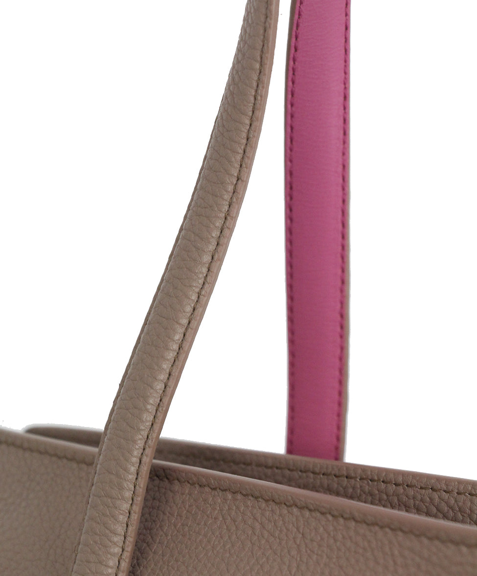 Ferragamo Taupe Pink Leather Tote 9