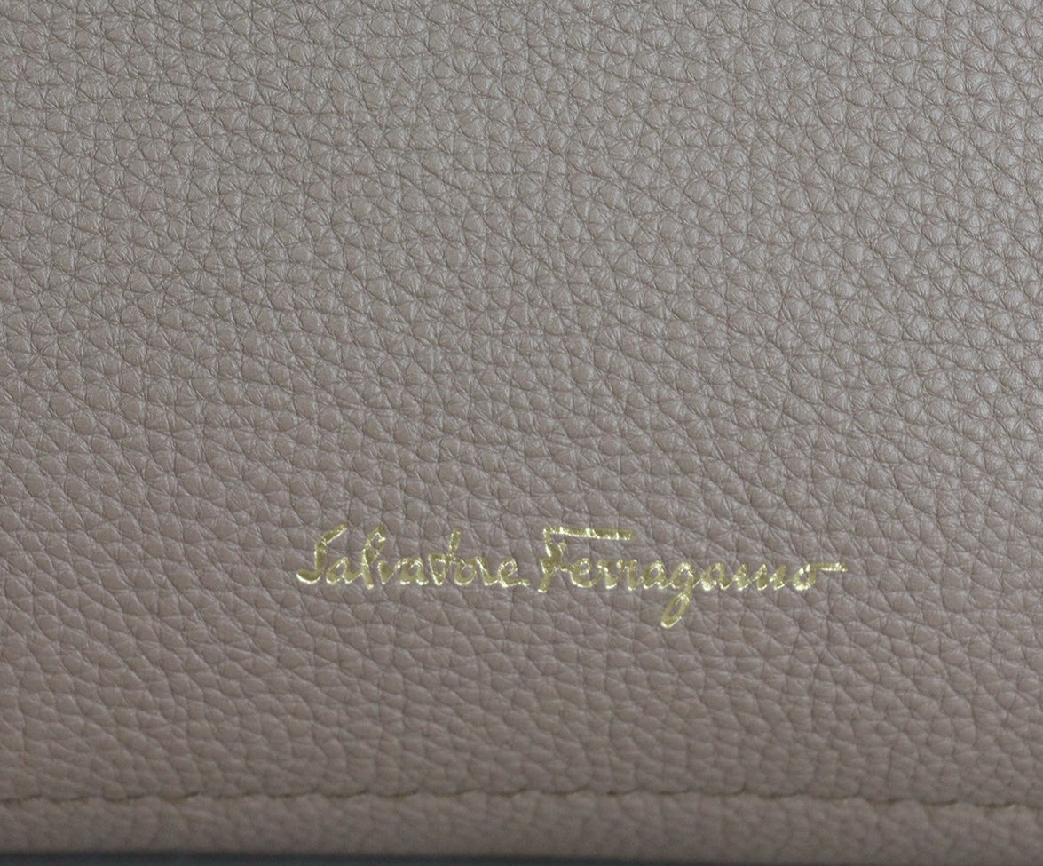 Ferragamo Taupe Pink Leather Tote 11