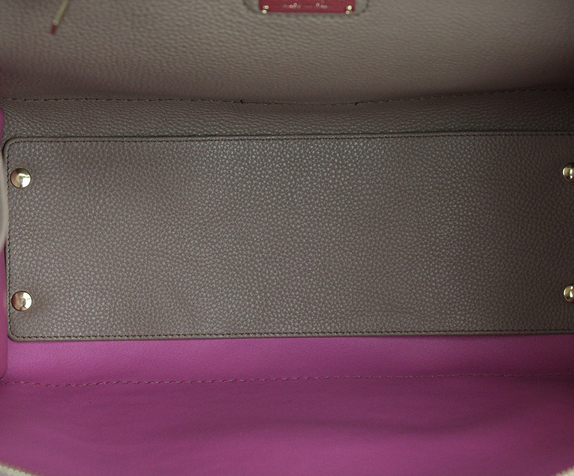 Ferragamo Taupe Pink Leather Tote 6