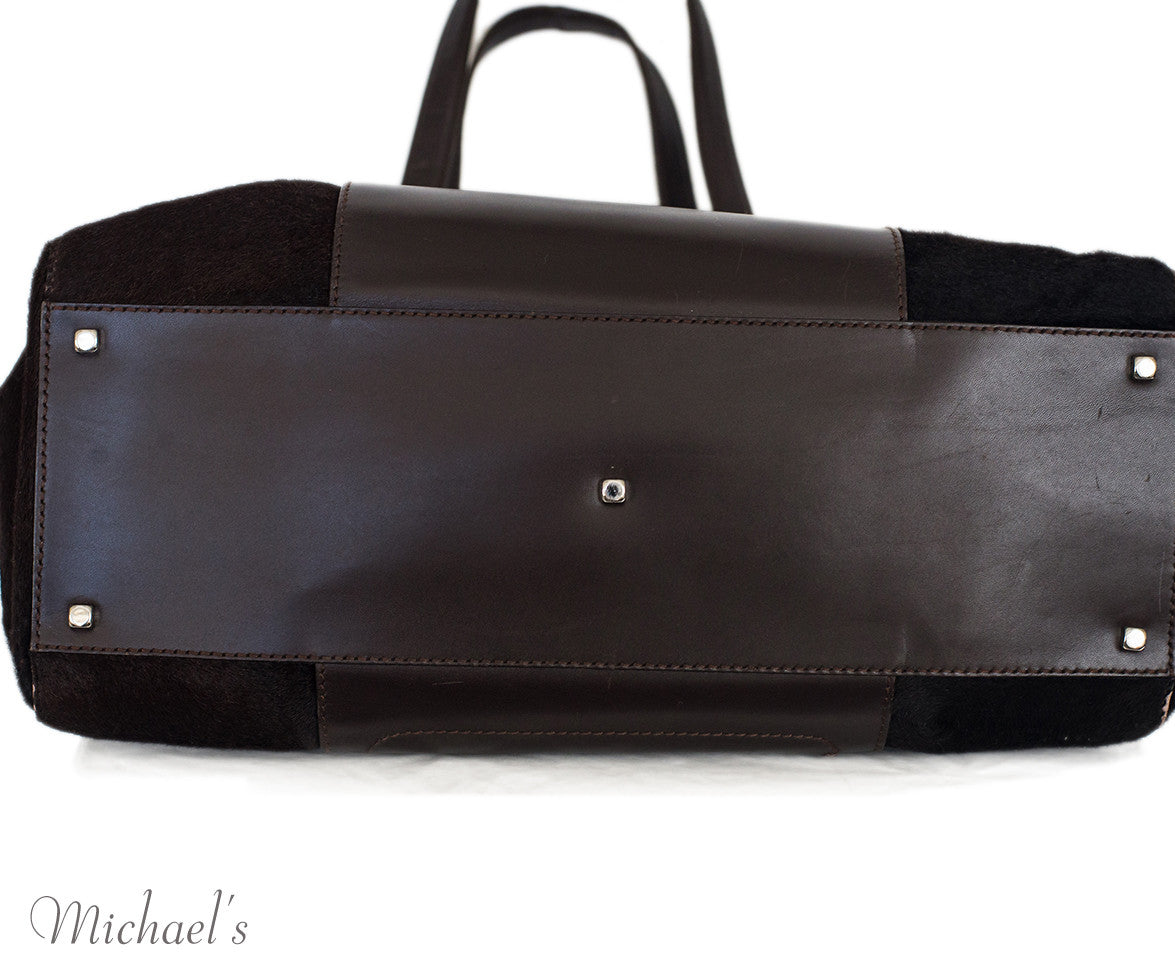 Ferragamo Brown Pony Leather Silver Hardware w/ Dust Bag - Michael's Consignment NYC  - 4