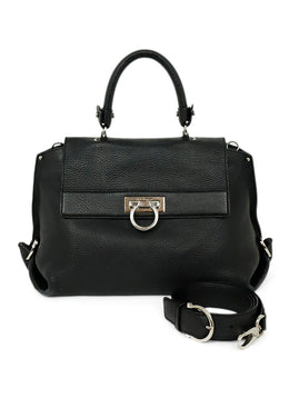 Ferragamo Black Leather Crossbody Handbag 1