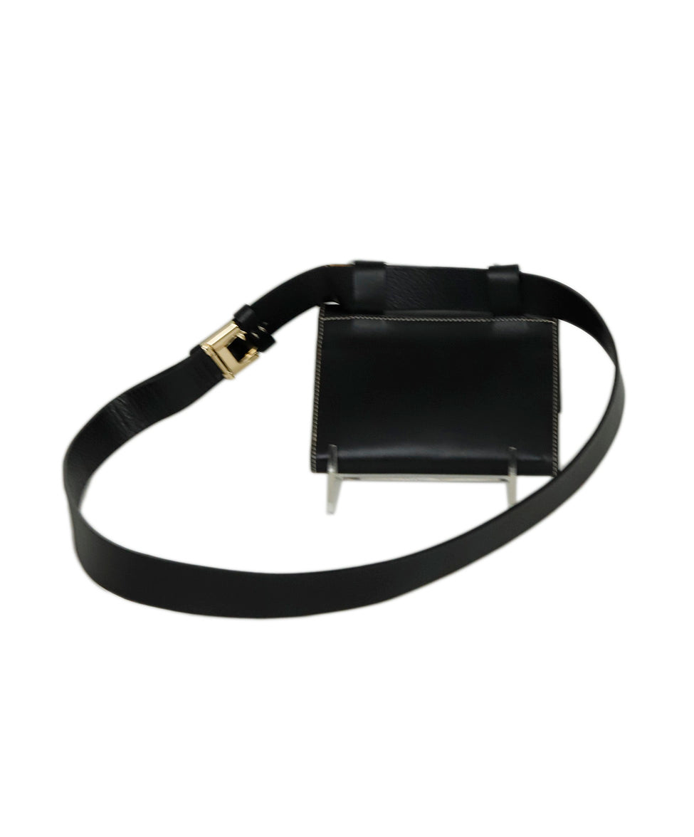 Ferragamo Black Leather Mini Fannypack Bag 3