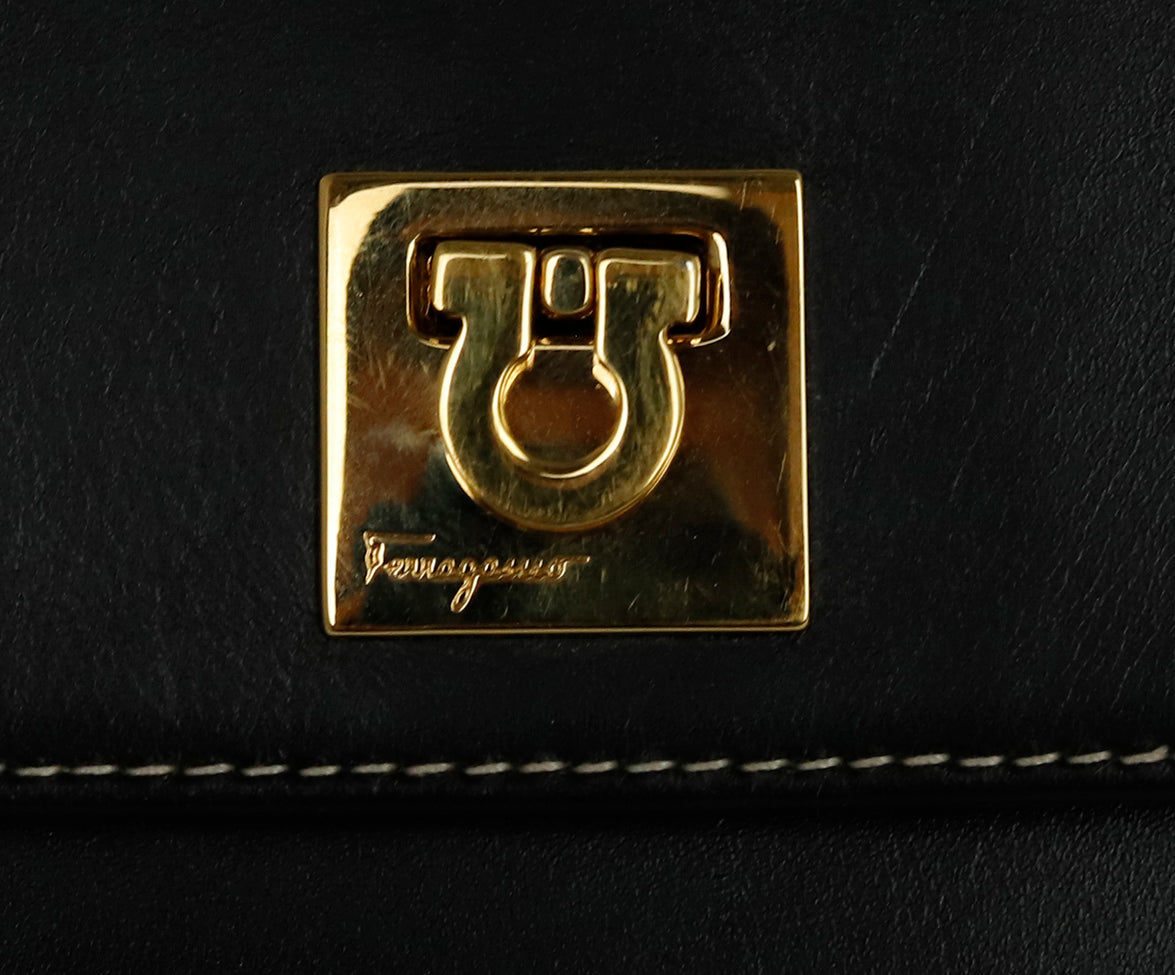 Ferragamo Black Leather Mini Fannypack Bag 9