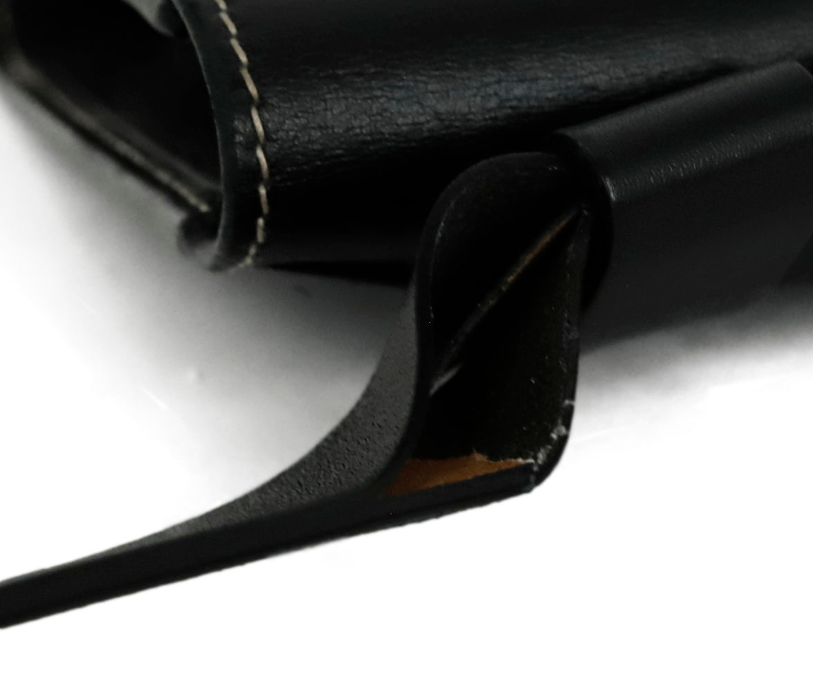Ferragamo Black Leather Mini Fannypack Bag 12
