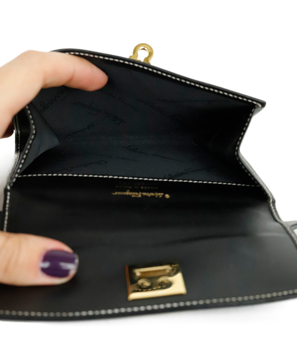 Ferragamo Black Leather Mini Fannypack Bag 7