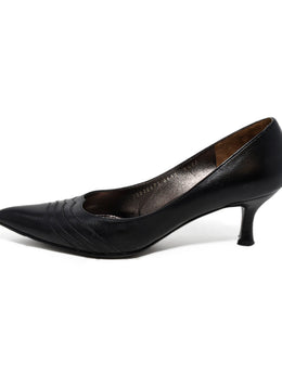 Ferragamo Black Leather Heels 2