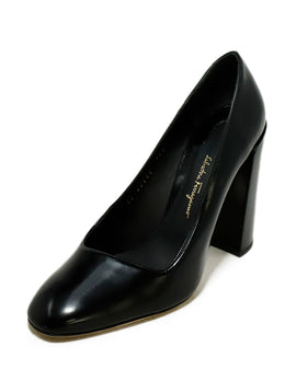 Ferragamo US 7 Black Leather Shoes 1