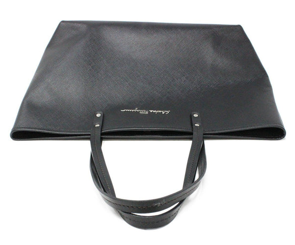 Ferragamo Black Leather Tote