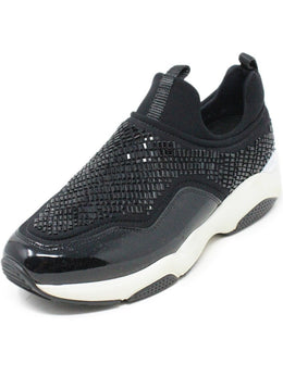Ferragamo Black Patent Leather Beaded Sneakers 1