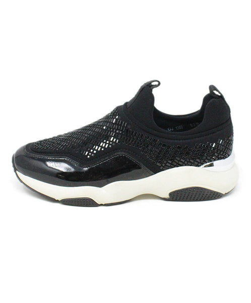 Ferragamo Black Patent Leather Beaded Sneakers 2