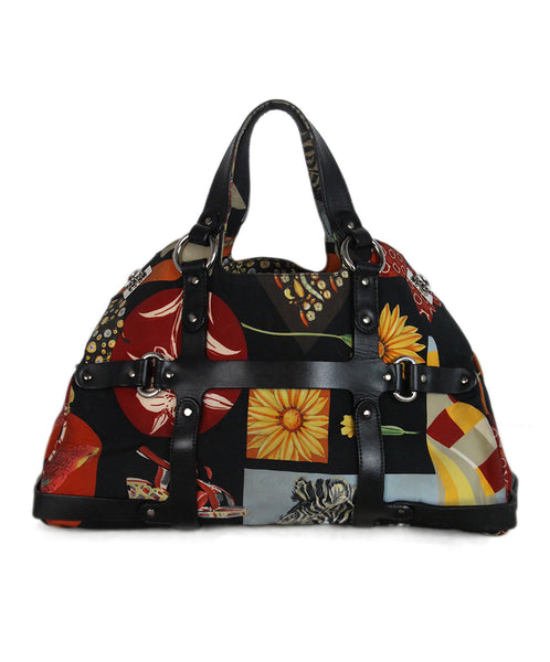Ferragamo black red yellow blue nylon bag 1