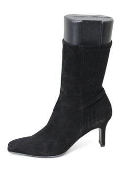 Ferragamo Shoe Size US 9.5 Black Suede Ribbed Booties