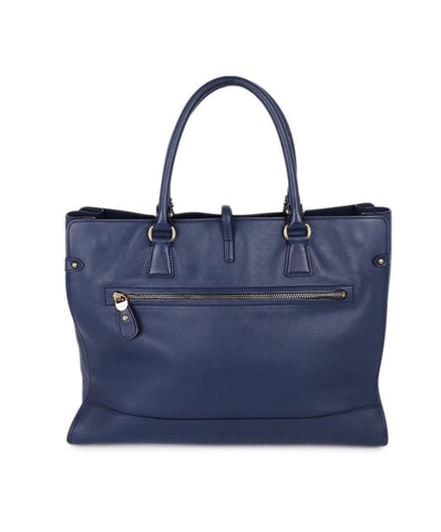 Ferragamo Blue Leather Handbag 1
