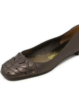 Ferragamo Brown Leather Flats 1