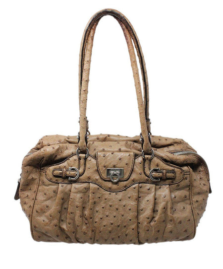 Chanel Neutral Woven Canvas Brown Lucite Handle Purse