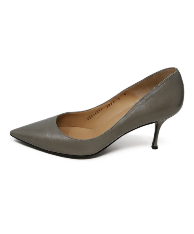 Ferragamo Grey Leather Heels 2