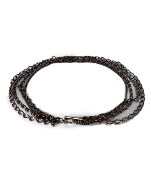 Ferragamo Metallic Bronze Multi Chain Necklace 1