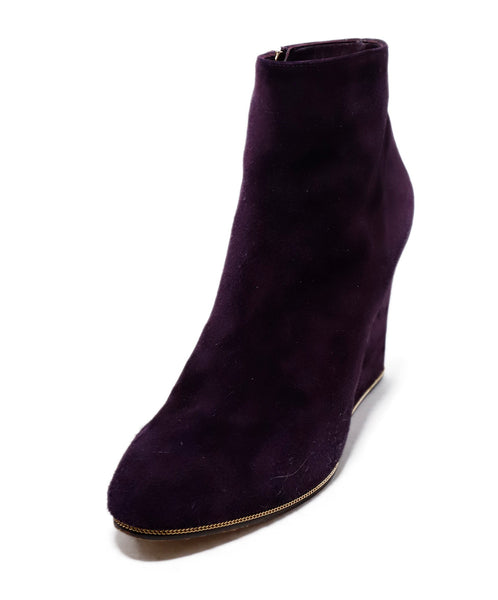 Ferragamo Purple Suede Booties 1