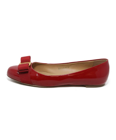 Ferragamo red patent leather flats 1