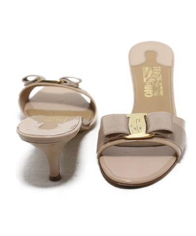 Ferragamo Neutral Tan Patent Leather Sandals 1