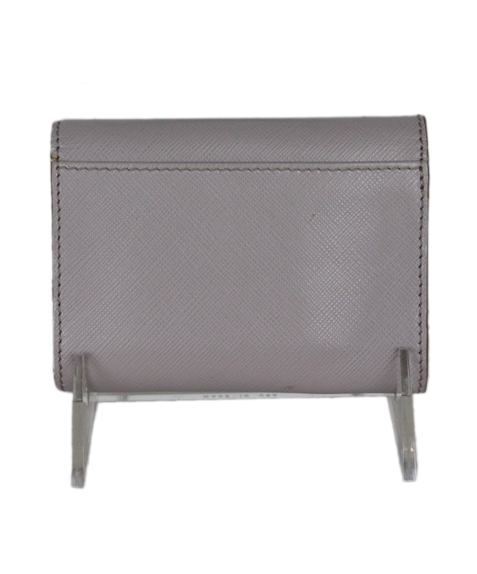 Ferragamo Taupe Leather Goods Wallet 3