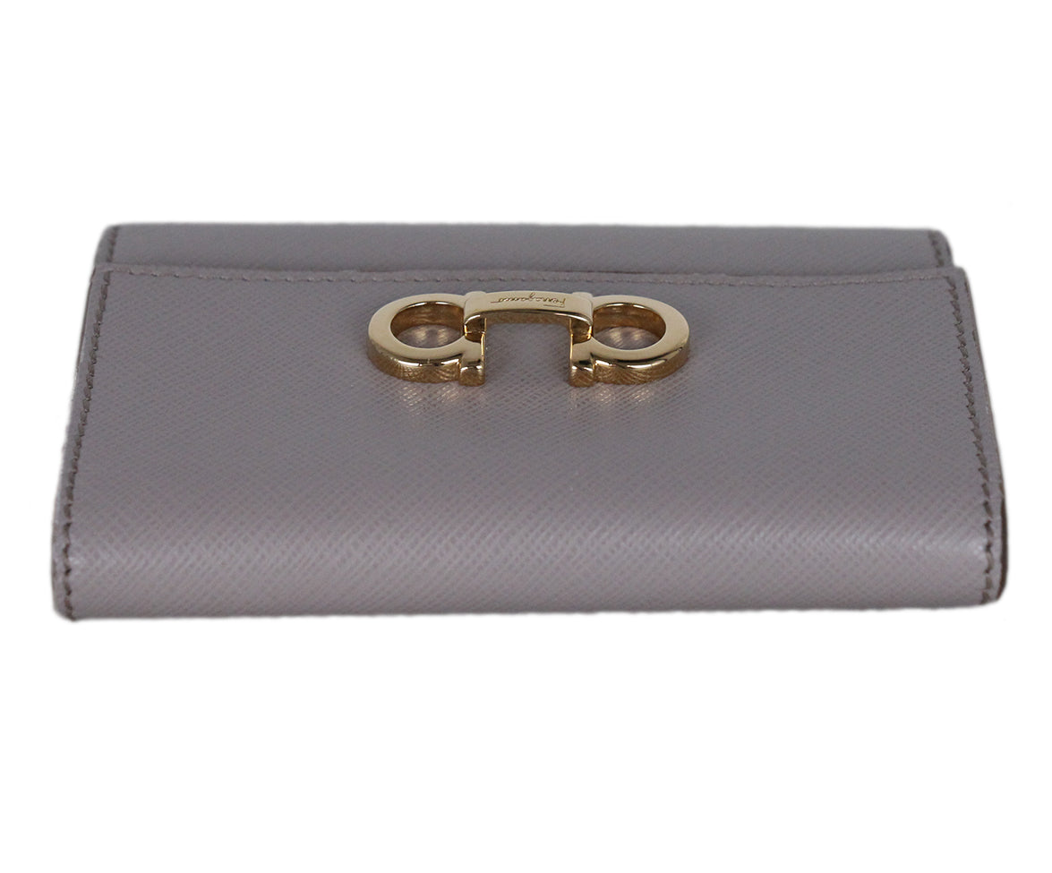 Ferragamo Taupe Leather Goods Wallet 5