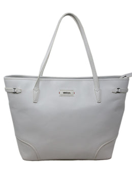 Ferrari White Leather Tote 1