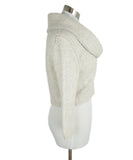 Fischer Neutral Cream Wool Cashmere Lurex Crop Sweater 2