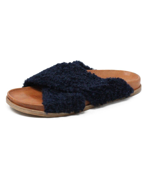 Forte Forte Blue Navy Sheep Skin Shoes