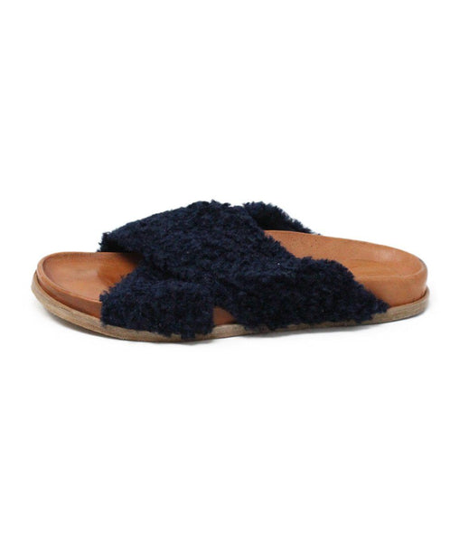 Forte Forte Blue Navy Sheep Skin Shoes 1