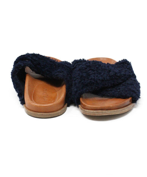 Forte Forte Blue Navy Sheep Skin Shoes 2