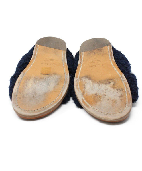 Forte Forte Blue Navy Sheep Skin Shoes 3