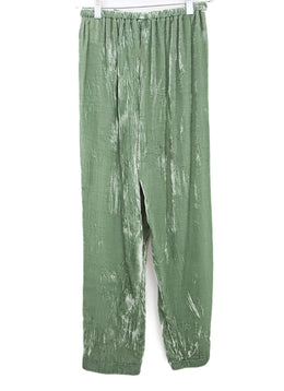 Forte Forte Green Velvet Pants with Ribbon Tie 2