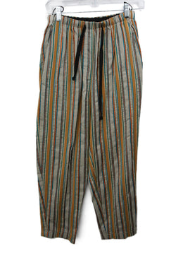 Forte Forte Khaki Copper Blue Striped Pants 1