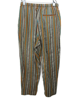Forte Forte Khaki Copper Blue Striped Pants 2