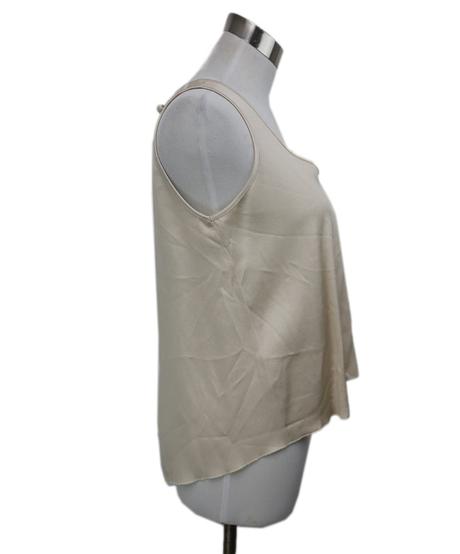Forte Forte Neutral Beige Acetate Top 2
