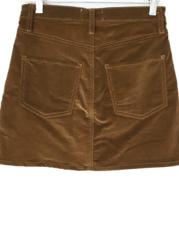 Frame  Brown Corduroy Mini Skirt 2
