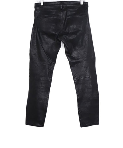 Frame Black Leather Skinny Pants 1
