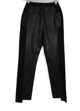 Frame Black Leather Suede Pants 2