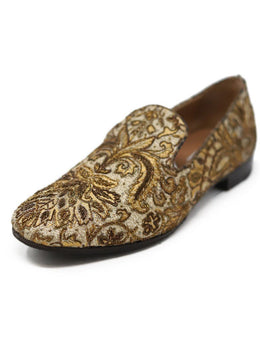 Fratelli Rossetti Gold Embroidery Loafers